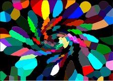 Strudel von Farben Abstraktion von Farben Farben der Welle Lizenzfreies Stockfoto