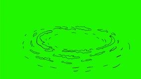Strudel-wirbelnde Zeichnungs-2D Animation