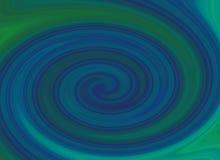 Strudelhintergrund des blauen Grüns Lizenzfreie Abbildung