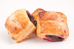 Strudels. Mini strudels with rasberry fruits Stock Photo