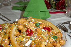 Struffoli detail Royalty Free Stock Photos