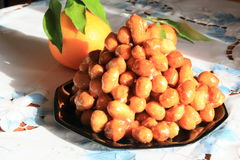 Struffoli, Italian pastries. Struffoli traditional sweetness of Southern Italy Royalty Free Stock Photography