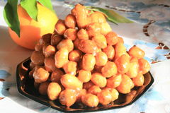 Struffoli, Italian pastries Stock Photos