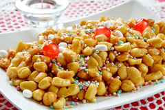 Struffoli neapolitan food Royalty Free Stock Photography