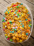 Struffoli neapolitan food Stock Photo