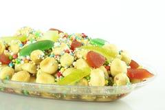 Struffoli : sucrerie de Noël Photographie stock