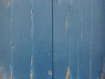 Strugać Błękitnych drzwi Obrazy Royalty Free