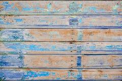 Strugać farbę na starej drewnianej ścianie obsoleted obraz stock