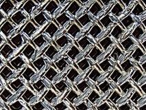Strugać chromu grille samochodowego grzejnika Obraz Royalty Free
