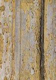 Strugać lakier na Drewnianym panelu Zdjęcia Royalty Free
