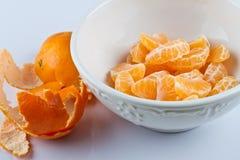 strugający pucharów clementines zdjęcia stock