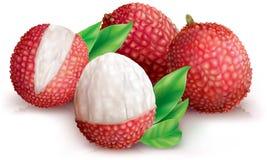 strugający lychee lychees Zdjęcia Royalty Free