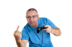 Struggle with the console Royalty Free Stock Image