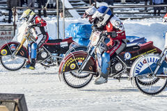The struggle for leadership. Russia. The Republic Of Bashkortostan. The Ufa. Racing on ice. The Championship Of Russia. A final . February 1, 2014 Stock Images