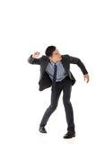 Struggle pose of Asian business man Stock Photo