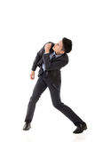 Struggle pose of Asian business man Stock Photography