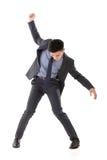Struggle pose of Asian business man Royalty Free Stock Photos