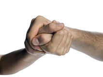 Struggle between the two rivals. Royalty Free Stock Image