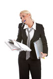 Struggling businesswoman Stock Images