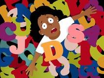 Struggling with dyslexia Stock Photo