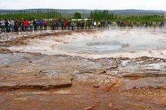 Strukkor喷泉在冰岛 库存图片