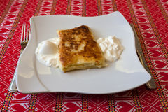 Strukle with cream - famous Croatian appetizer Royalty Free Stock Image
