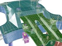 Struktur 3d Abstrakte 3D übertragen stock abbildung