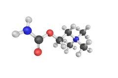 struktur 3d av Carbachol, också som är bekant som carbamylcholinen, en chol Royaltyfria Bilder