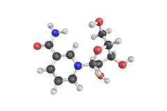 struktur 3d av Nicotinamideribosiden (NR), en pyridine-nucleosid Arkivbild