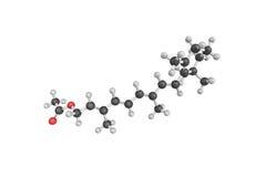 struktur 3d av Retinyl acetat (retinolacetat, acet för vitamin A Arkivfoton