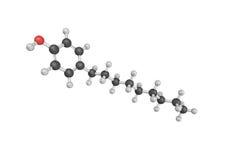 Struktur 3d von nonylphenol 4, von verzweigten nonylphenol und von MO lizenzfreie abbildung