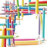 Struktur der farbigen Bleistifte lizenzfreie abbildung