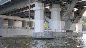 Struktur der modernen Brücke stock video