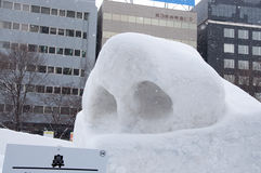 Struktur der Nase mit dem Nasenloch, Sapporo-Schnee-Festival 2013 Lizenzfreies Stockfoto