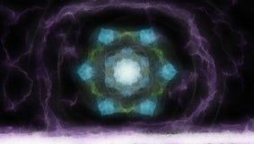 Struktur der Welt durch das gefrorene Glas Lizenzfreies Stockbild