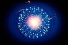 Struktur des Kernes von Atom Nuclear-Zündung der Atombombe des inneren Kernes stock abbildung