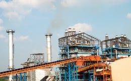 Struktur des Kraftwerkgebäudes Stockbild