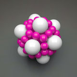 Struktur des Moleküls 3D Futuristische Technologieart Illustration des Vektors 3D für Wissenschaft, Technologie, Marketing, Darst Stockbild