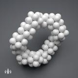 Struktur des Moleküls 3D Futuristische Technologieart Vektor 3d Lizenzfreie Stockbilder
