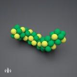 Struktur des Moleküls 3D Futuristische Technologieart Vektor 3d Stockbilder