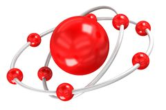 Struktur des Sauerstoffes auf einem weißen Hintergrund Lizenzfreie Stockfotos