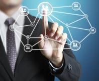 Struktur des Sozialen Netzes Stockfotos