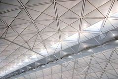 struktur för arkitekturhong inre kong Arkivfoton