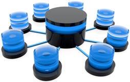 struktur för databas 3d stock illustrationer
