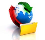 Struktur för mappvärldsnätverk stock illustrationer