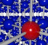 struktur för raster för boll komplicerad röd royaltyfri illustrationer