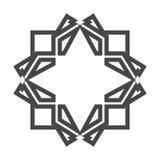 Struktur för stil för abstrakt begrepp för illustrationdesignblomma Arkivbilder