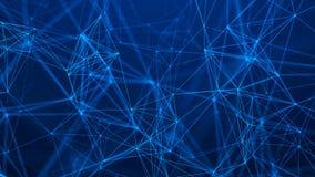 Struktur f?r n?tverksanslutning abstrakt bakgrundsteknologi futuristic bakgrund framf?rande 3d royaltyfri illustrationer