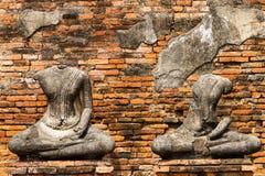 Struktur mit zwei Ruinen von Buddha Stockbild
