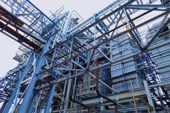 Struktur och arkitekt av byggnad på industriellt Royaltyfria Bilder